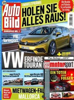 Auto Bild + Auto Bild Motorsport Abo + 50,00 € Prämie + 5,00 € Rabatt Titelbild