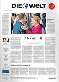 Zeitung Die Welt Abo Titelbild