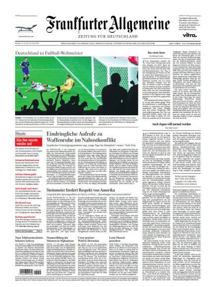 FAZ - Frankfurter Allgemeine Zeitung Abo mit Bargeldpr�mie oder Gutscheinpr�mie