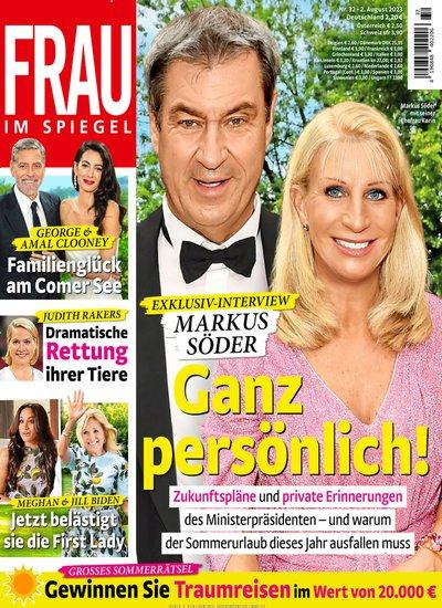 Frau im spiegel cover frau im spiegel titelbild der for Neue spiegel ausgabe