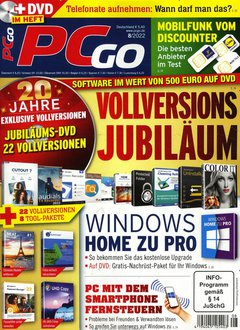 PCgo mit DVD - 4 Monate gratis Titelbild